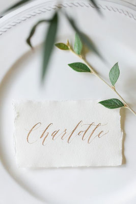 marque place mariage minimalisme