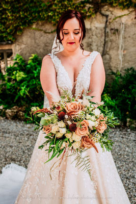 Bouquet romantique terracotta chic