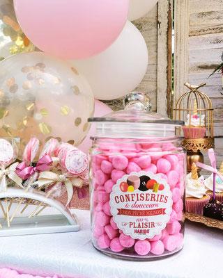 bonbon haribo pink tagada