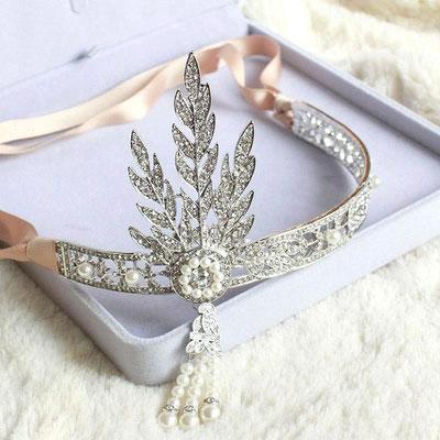 accessoire cheveux mariée headband inspiration 1920 années folles