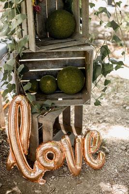ballon love déco mariage rétro champêtre