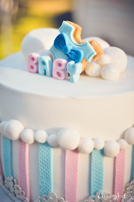 Gâteau gender reveal party