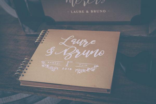 livre d'or mariage champêtre