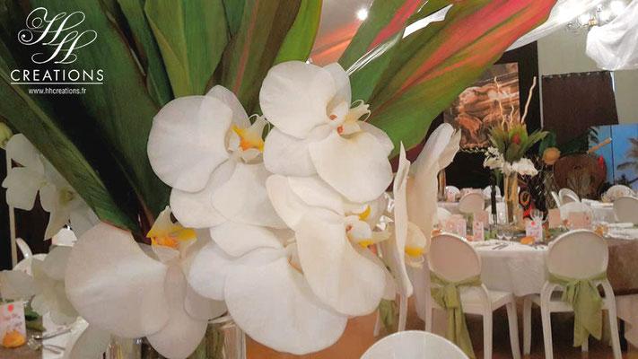 Mariage orchidée blanche