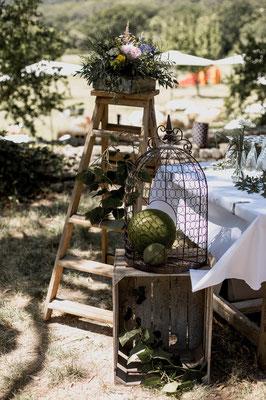 décoration mariage champêtre rétro