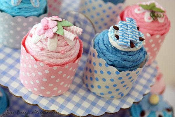 Boîtes à dragées bébé baptême rose et bleu