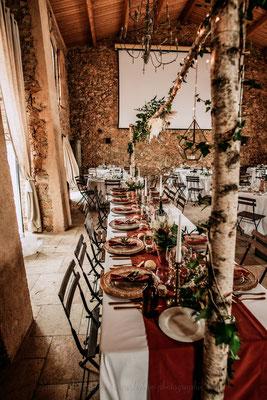 Table des mariés terracotta champêtre rustique chic