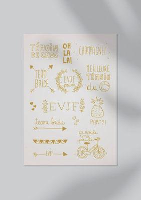 tattoos gold mariage