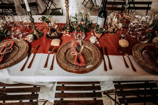 Art de la table - Mariage Terracotta rustique chic