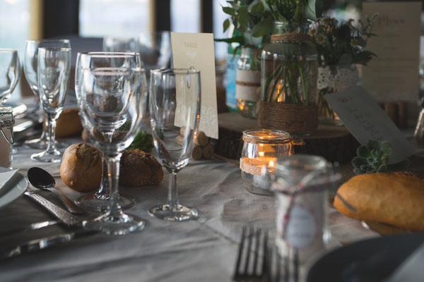 Déco table mariage champêtre