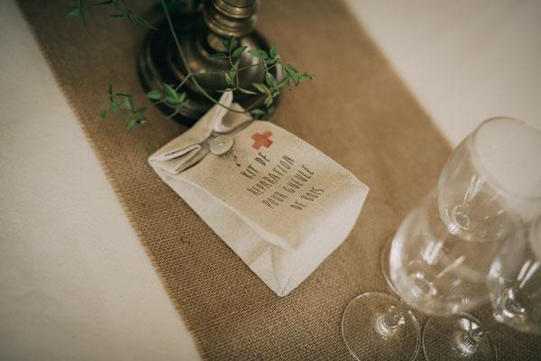 """Idée cadeaux invités mariage """" Kit de réparation pour gueule de bois """""""