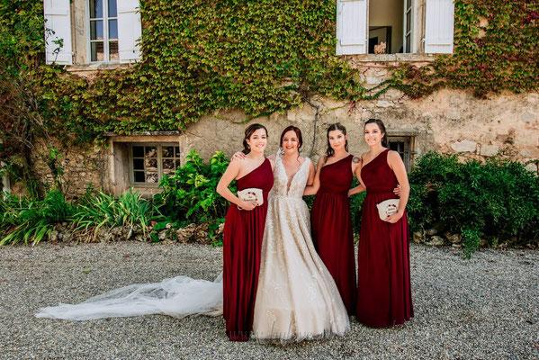 Mariage Terracotta bordeaux demoiselles d'honneur