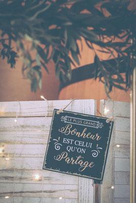 Décoration mariage rétro champêtre chic
