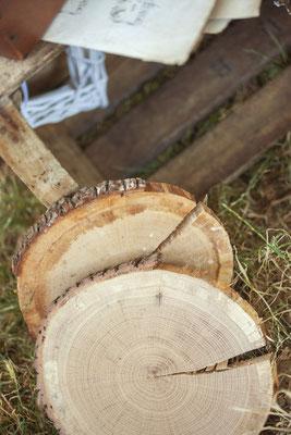 rondins bois mariage rustique naturel champêtre