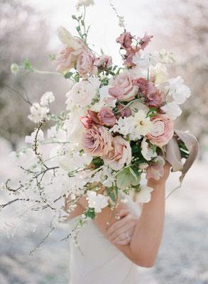 bouquet romantique minimaliste