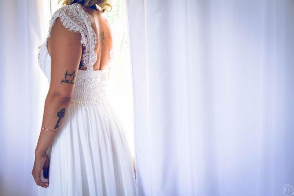 Mariée mariage rock tatouage