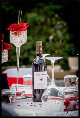centre de table roses rouges