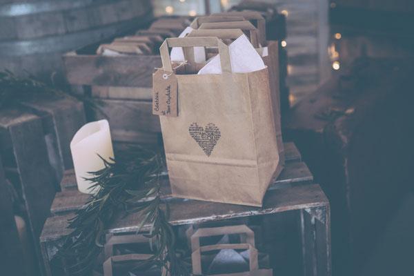 Cadeaux invités mariage champêtre