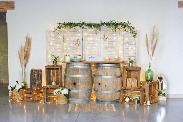 Mariage décoratrice location champêtre Nimes