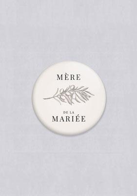 badge olivier mariage