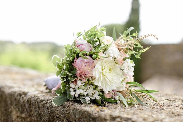 bouquet de mariée champêtre romantique chic