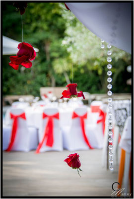 roses rouge mariage rouge et blanc pampilles