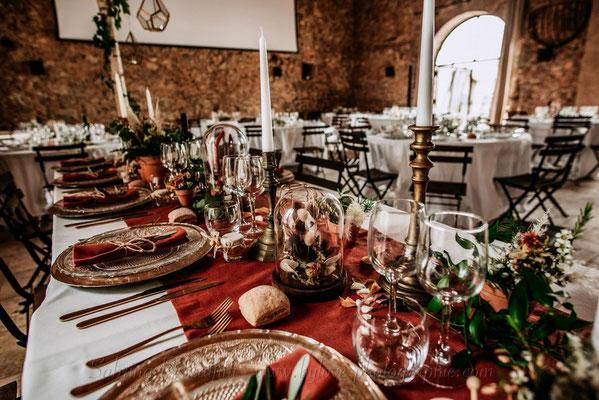 wedding designer mariage champêtre terracotta