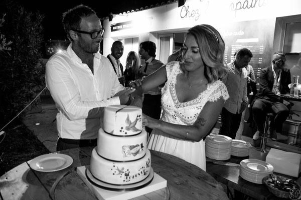wedding cake mariage guinguette rock