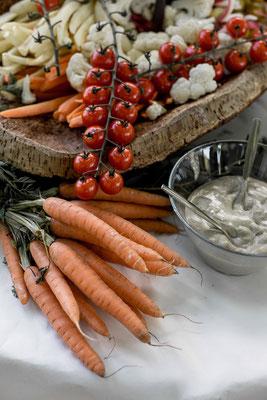 anchoïade mariage légumes soleil