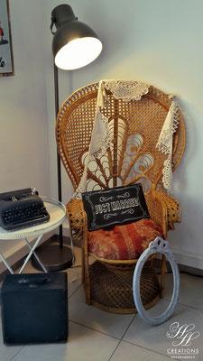 fauteuil emmanuel mariage vintage rétro