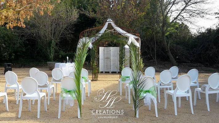Décoration mariage cérémonie exotique voyage île