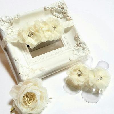 fleurs de pieds accessoires bébés shooting photo