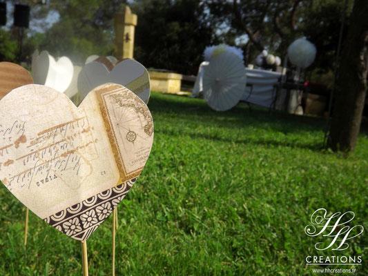 coeur mariage champêtre