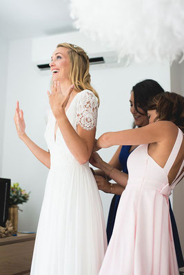 Mariée robe fluide