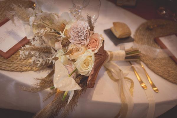 mariage moderne exotique bouquet de la mariée
