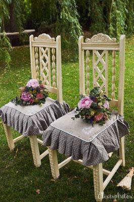chaises mariés bohème romantique