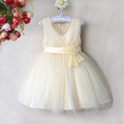 robe ivoire champagne baptême mariage fille