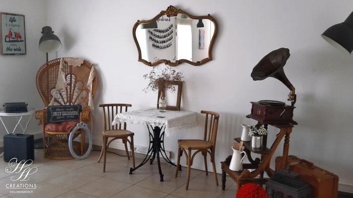 décoration de mariage vintage rétro guinguette Montpellier Nîmes Gard et Hérault
