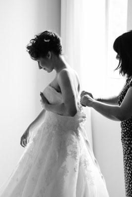Préparation Mariée robe de mariée