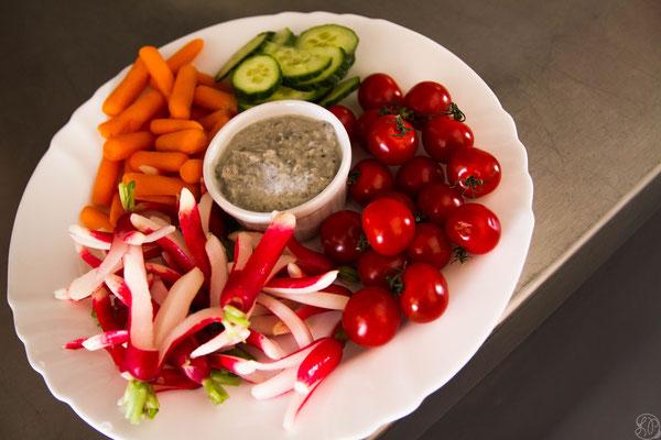 assiette légumes soleil