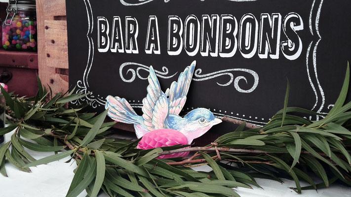 décoration bar à bonbons