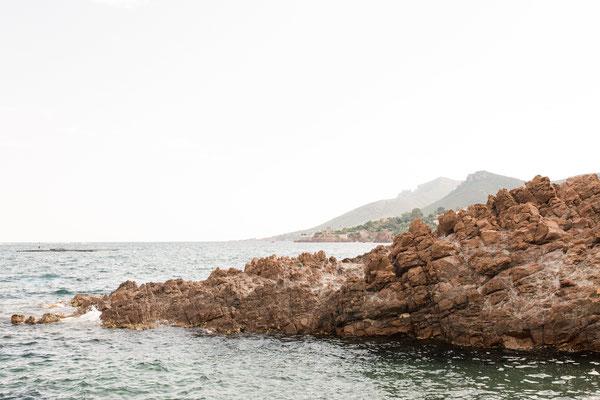 Côte d'Azur roches rouges massif de l'Estérel