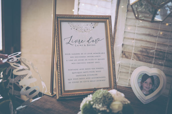 mariage champetre chic livre d'or