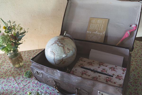 valise voyage urne mariage