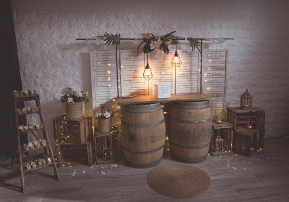 Décoration mariage exotique champêtre boho rustique chic