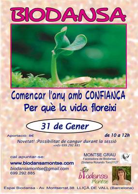 """Biodansa Montse: """"Empezar el año con confianza para que florezca la vida"""""""