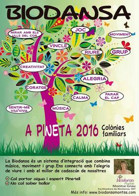 Biodansa Montse. 17 agost 2016. Biodansa familiar a Pineta.