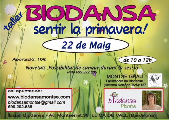 """Biodansa Montse. Taller """"Sentir la primavera"""""""