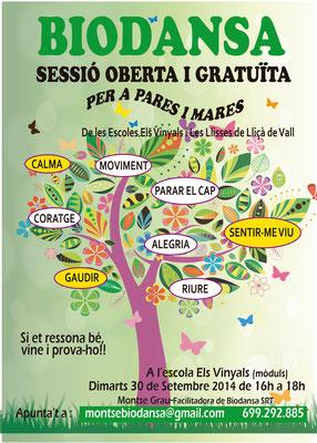 Biodansa Montse. Sessió oberta Escoles Lliçà de Vall