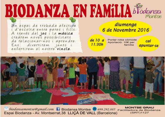 Biodanza Montse. 6 noviembre 2016. Biodanza en família.